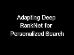Adapting Deep RankNet for Personalized Search