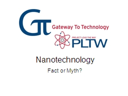 Nanotechnology Fact or Myth?