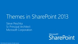 Themes in  SharePoint 2013