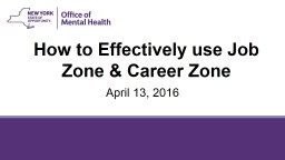 How to Effectively use Job Zone & Career Zone