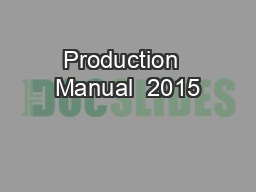 Production  Manual  2015
