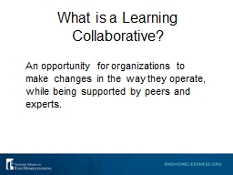 What is a Learning Collaborative