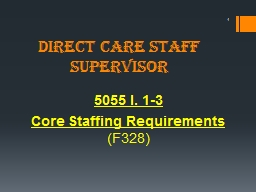 Direct Care Staff Supervisor