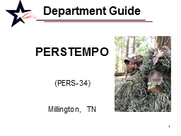Department Guide 	 PERSTEMPO