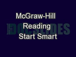 McGraw-Hill  Reading Start Smart