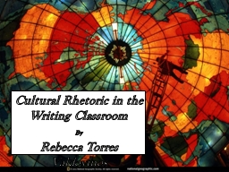 Cultural Rhetoric in the Writing