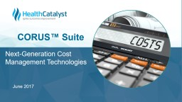 Next-Generation Cost Management Technologies