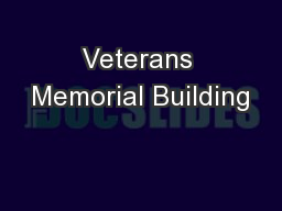 Veterans Memorial Building