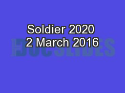 Soldier 2020 2 March 2016