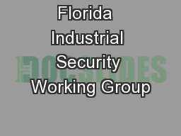 Florida  Industrial Security Working Group