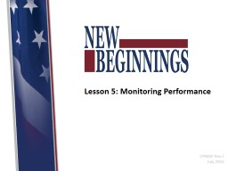 Lesson 5: Monitoring Performance