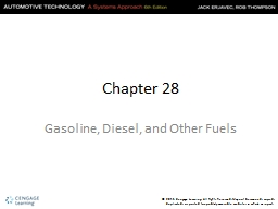 Chapter 28 Gasoline, Diesel, and Other Fuels