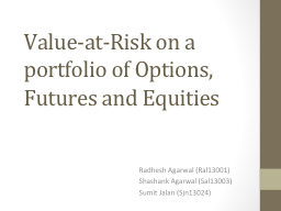 Value -at-Risk on a portfolio of Options, Futures and Equities