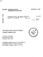 NASA TECHNICAL NASA TM X  MEMORANDUM Lo  ASATNX TWOPHA