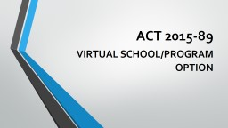 ACT  2015-89      VIRTUAL PowerPoint PPT Presentation
