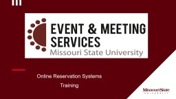 Online Reservation Systems