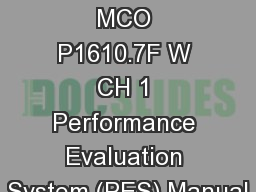 FitRepping  101 Sources MCO P1610.7F W CH 1 Performance Evaluation System (PES) Manual