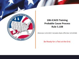 106-ICAOS Training Probable Cause Process