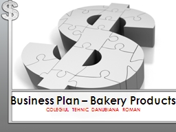 Business Plan – Bakery Products
