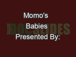 Momo's  Babies Presented By: