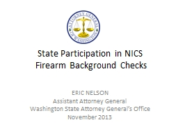 State Participation in NICS