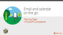 Email and calendar  on the go