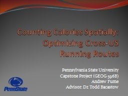 Counting Calories Spatially: Optimizing Cross-US