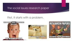 The social issues research paper