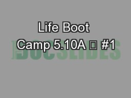 Life Boot Camp 5.10A  #1