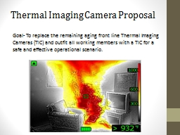 Thermal  Imaging Camera Proposal