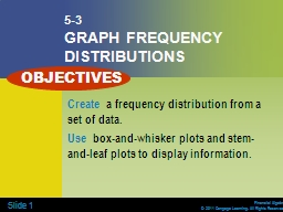 Slide   1 5-3 GRAPH FREQUENCY DISTRIBUTIONS
