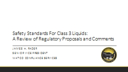 Safety Standards For Class 3 Liquids: