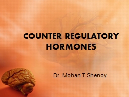 COUNTER REGULATORY HORMONES