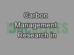 Carbon Management Research in