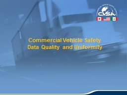 1 Commercial Vehicle Safety