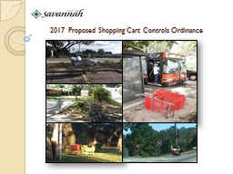 2017  Proposed Shopping Cart Controls Ordinance