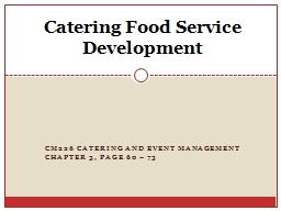 CM226 Catering and Event Management