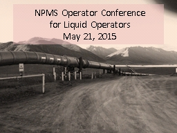 NPMS Operator Conference