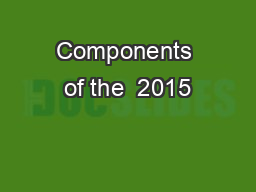 Components of the  2015