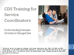 CDS Training for  Service Coordinators