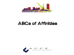ABCs of Affinities Roy  Lamphier