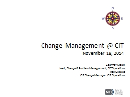 Change Management @ CIT November 18, 2014
