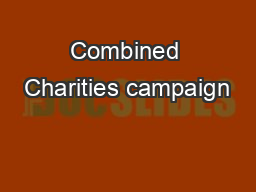Combined Charities campaign