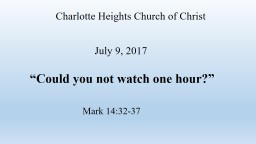 Charlotte Heights Church of Christ