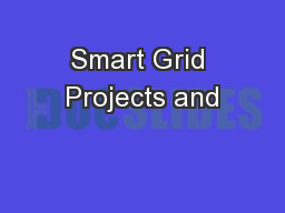 Smart Grid Projects and