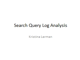 Search Query Log Analysis