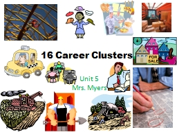 16 Career Clusters Unit 5