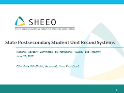 State Postsecondary Student Unit Record Systems