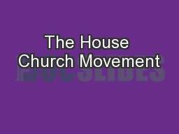 The House Church Movement