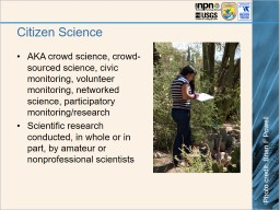 Citizen Science An Introduction